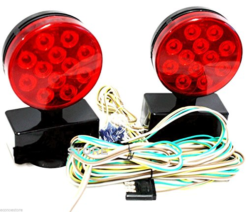 Magnetic LED Trailer Towing Light Kit Magnet Mount Tow Tail/