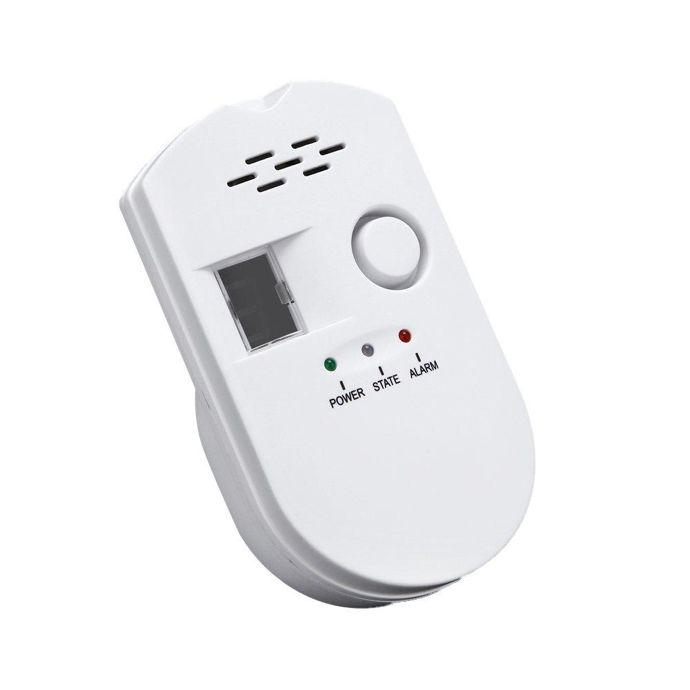 SODIAL Sensitive digital display flammable pipe alarm gas detector gas detector kitchen monitoring sensor US Plug by SODIAL (Image #1)