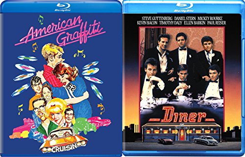 American Graffiti + Diner Blu Ray ACADEMY AWARD movie Set Double Feature 50's