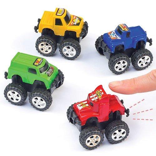 Mini Pull Back Monster Trucks. Party Bag Fillers for Kids - Pack of 5
