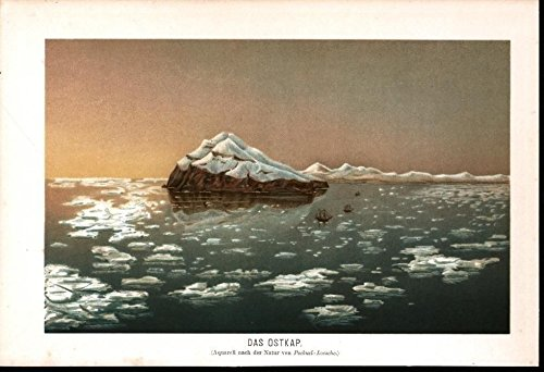 The Eastern Cape Icebergs Expedition 1904 antique chromolithograph (Eastern Cape)