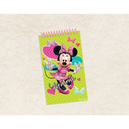 "UPC 013051371012, Disney Minnie Mouse Notepad Birthday Party Favour Prize Giveaway (1 Piece), Lime Green/Pink, 4"" x 2 1/4""."