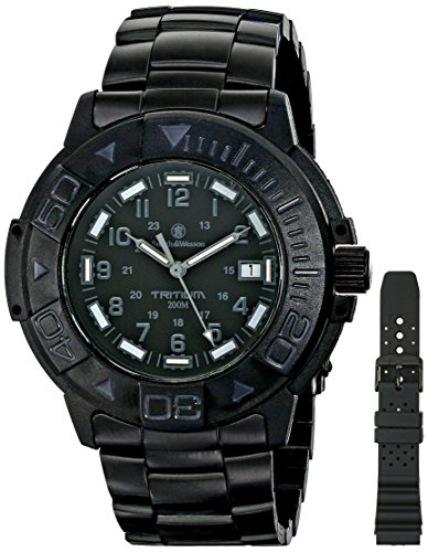 smith-wesson-mens-sww-900-blk-diver-swiss-tritium-black-dial-metal-and-rubber-band-watch