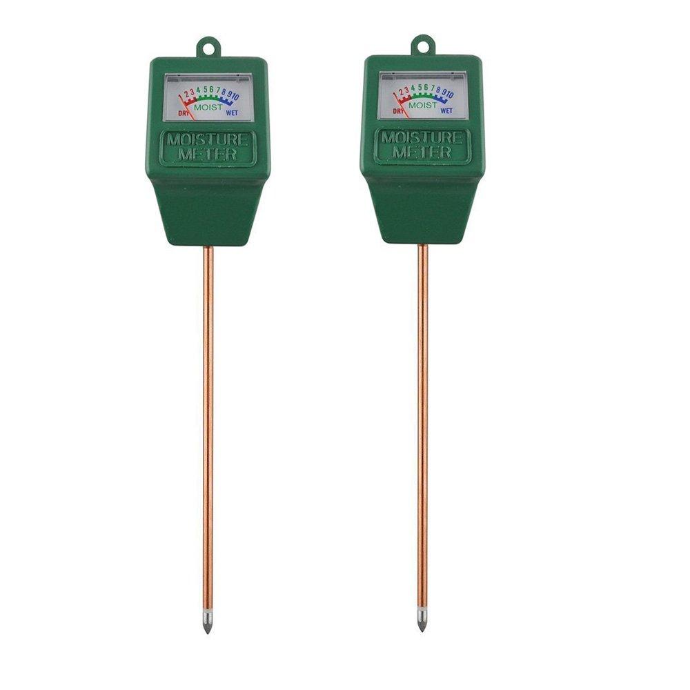 Alotpower Soil Moisture Sensor Meter 2 Pack, Moisture Sensor Hygrometer for Garden, Farm, Lawn Plants Indoor & Outdoor(No Battery needed)