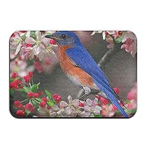 Bluebird sensación Floral flores en las ramas reutilizable antideslizante suelo alfombra