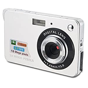 Aberg Best 18 mega pixels HD Digital Camera - Digital video camera - Students cameras - Students Camcorder - Handheld Sized Digital Camcorder Indoor Outdoor for Adult /Seniors / Kids (silver)