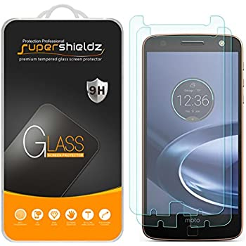 [2-Pack] Supershieldz for Motorola Moto Z Force Droid Tempered Glass Screen Protector