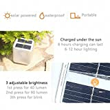 Inflatable Solar Light Frosted Outdoor Camping Lamp Lantern Waterproof Rechargeable Emergency Light for EMGC Hiking Travel and Décor