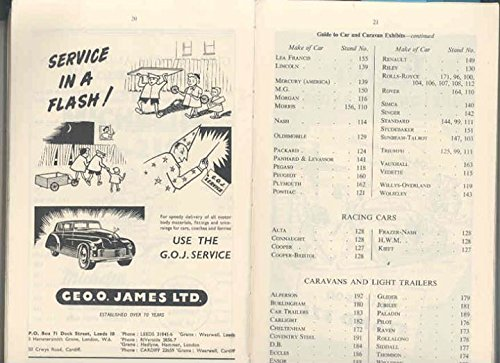 Review 1953 Earls Court England