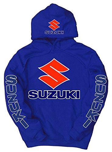 (Suzuki Logo Hoodie, XL Blue)