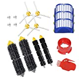 Replace Accessory Kit for iRobot Roomba 600 650 Series Vacuum Cleaner Parts Include 2 Bristle Brush,2 Flexible Beater Brush, 3 Filters, 4 Arm-Side Brush, 1 Cleaning Tool and 1 Brush Cleaning Tool