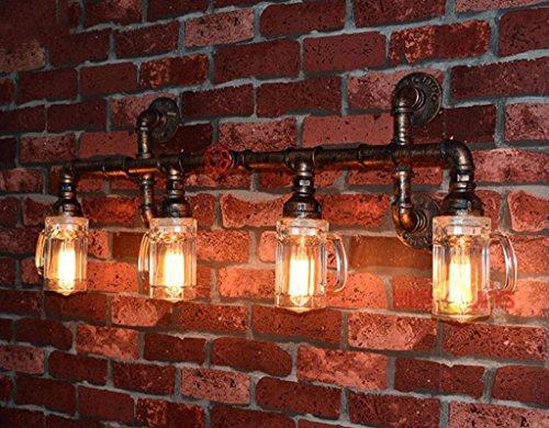 Applique Murale Feng Pipe Rétro Loft Lampe Industrielle Shui zMVUSp