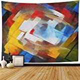 AlliuCoo Tapestry Wall Hanging 60 x 50 Inches Abstract Geometric Picasso Oil Canvas Pastel Famous Georges Braque Matisse Van Home Wall Decor Tapestries For Bedroom Living Room Dorm   Tapestry Features: *Material: Polyester fiber *Color: As picture...