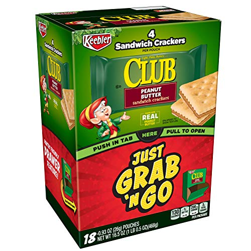 Keebler Club, Sandwich Crackers, Peanut Butter, Grab