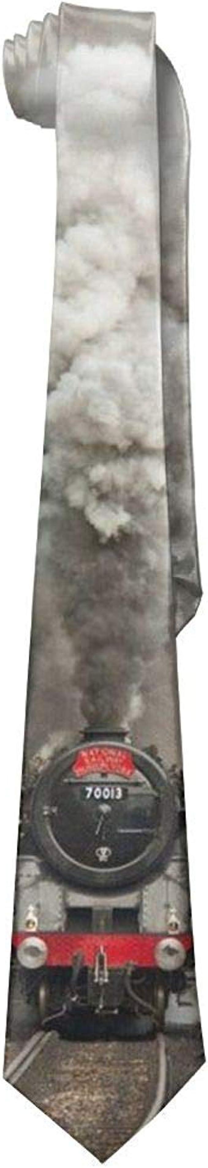 Decams Corbatas de seda para hombre, diseño de dos trenes: Amazon ...