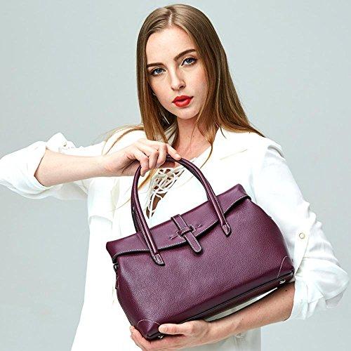 Aoligei Sac de sac à main féminin en cuir sac baotan sac à bandoulière B