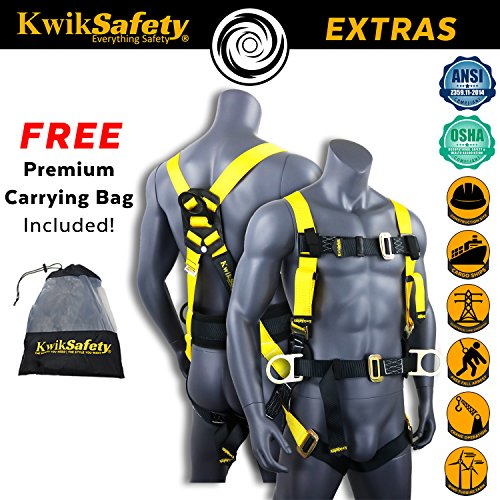 KwikSafety HURRICANE | OSHA ANSI Fall Protection Full Body Safety Harness w/Back Support | Personal Protective Equipment | Dorsal Ring Side D-Rings | Universal Construction Industrial Roofing Tool by KwikSafety (Image #3)