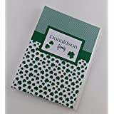 St. Patricks Day Gift Irish Family Photo Album IA#866 Green Clover Personalized 4x6 or 5x7 Pictures Saint Pattys