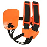 Adjustable Professional Double Shoulder Strap Grass Trimmer Brush Cutter Harness Belt Garden Nylon Orange