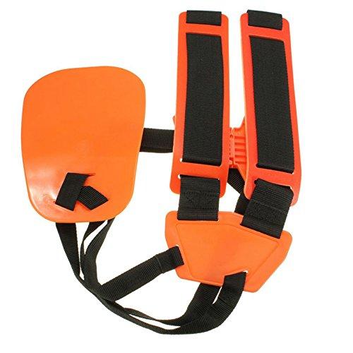Adjustable Professional Double Shoulder Strap Grass Trimmer Brush Cutter Harness Belt Garden Nylon Orange