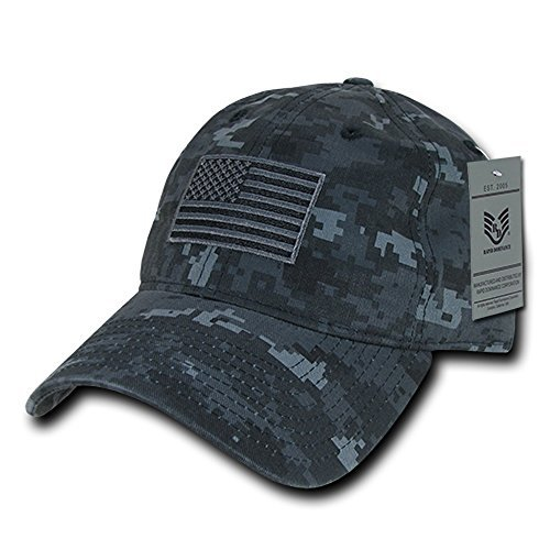 - Rapid Dominance American Flag Embroidered Washed Cotton Baseball Cap - NTG Camo