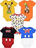 Disney Baby Boy Girl 5 Pack Bodysuits Mickey Mouse Donald Duck Goofy Pluto 18 Months