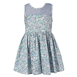 Richie House Little Girls' Sweet Floral Sundress RH1565-B-3/4