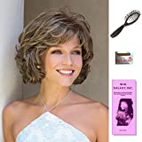 Mariah by Noriko, Wig Galaxy Hair Loss Booklet, Wig Cap, & Loop Brush (Bundle - 4 Items), Color Chosen: Dark Chocolate