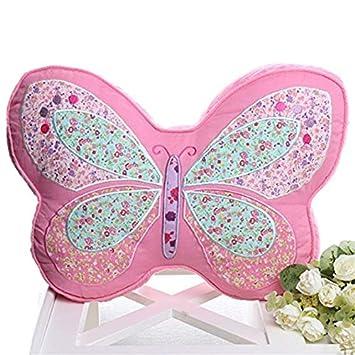 Amazon.com: HULI - Cojín para niños, diseño de mariposas ...