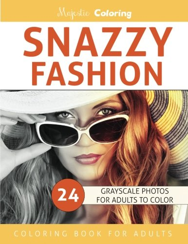 Snazzy Fashion: Grayscale Photo Coloring For Adults