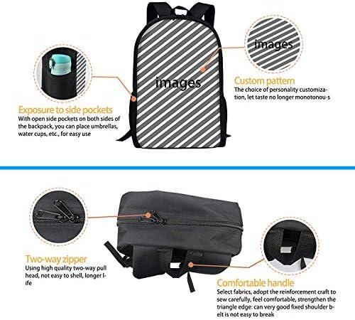 Warrior Cat School Rucksack College Bookbag Unisex Travel Backpack Laptop Bag
