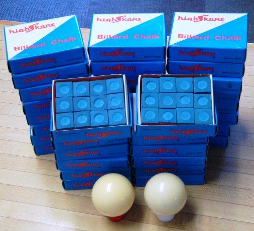 36 Dozen(3 Gross) Blue Chalk Pool Billiard with 2 1/4