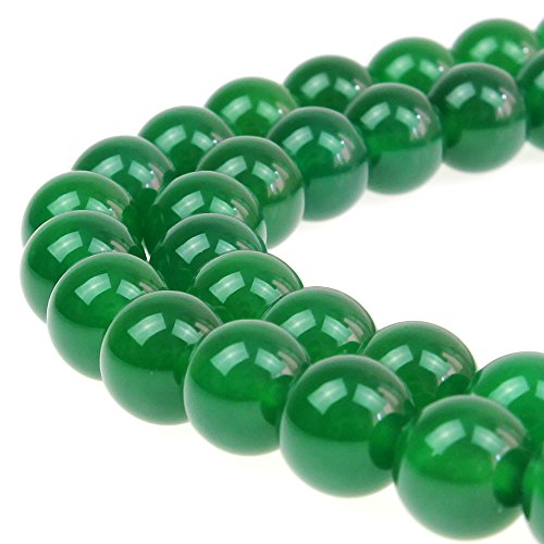 JARTC 7A Natural Green Agate Round Stone Loose Beads For Necklace Bracelet Charms Jewelry Making 15