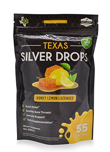 Texas Silver Drops - All Natural Honey & Lemon Soothing Drop with Immune Support Silver Solution by Texas Superfood Family of Products