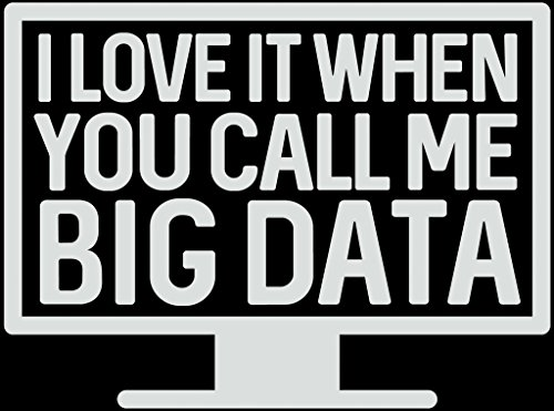 I Love It When You Call Me Big Data Funny Decal Vinyl Sticker|Cars Trucks Vans Walls Laptop| White |5.5 x 4 - Data Decal