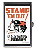 World War II Poster Buy Bonds! Coin, Mint or Pill Box: Made in USA!