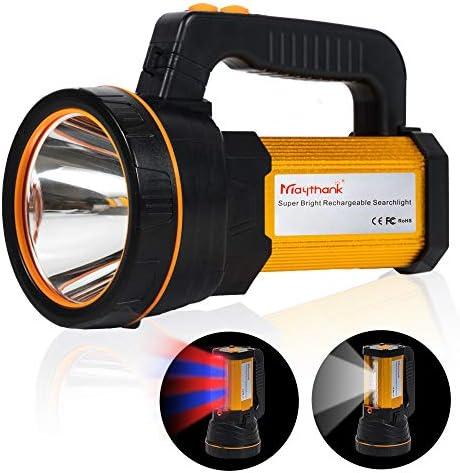 Taschenlampe Extrem hell CREE LED Lenser mit 4 Batterien betrieben 10000mah Akku USB Aufladbar Handscheinwerfer Handlampe Wiederaufladbarer Gross Suchscheinwerfer Wasserdicht Flashlight Laterne