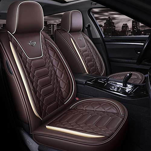 WL Leather Car Seat Cover Easy To Clean PU Leather Car Seat Cushions 5 Seats Full Set,A: Sports & Outdoors