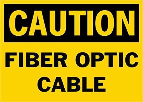 Señal de Seguridad de Cable de Fibra óptica de precaución ...