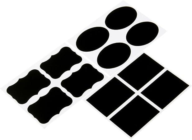 36 pcs tableau noir tableau noir craie conseil autocollants artisanat cuisine jar /étiquettes 3 formes bouteille planificateur d/écoration autocollants balises
