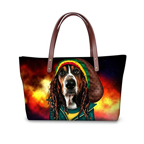 Sannovo Dog Pirate Costume Large LargeHandbags for Women Clearance BlackCrossbodyPurse