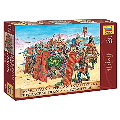 "Zvezda 8006 - Immortals - Persian Infantry V-IV BC - Plastic Model Soldiers Kit Scale 1/72 1"" 42 Soldiers: Toys & Games"
