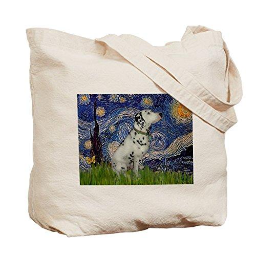 CafePress Noche estrellada/gamuza de–lona bolso, bolsa de la compra, diseño de dálmata