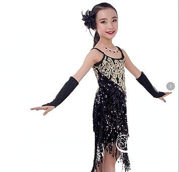 ZHANGQIAN Vestido de Baile Latino para niñas Niños ...