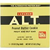 Larabar Gluten Free Fruit & Nut Protein Bar, Peanut Butter Cookie, 1.95 oz, 5 Count