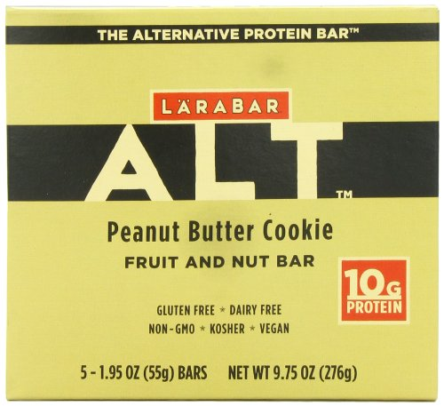 Larabar Alt gluten Fruit & Nut gratuit Protein Bar, Peanut Butter Cookies, 5 - Bars 1,95 Ounce