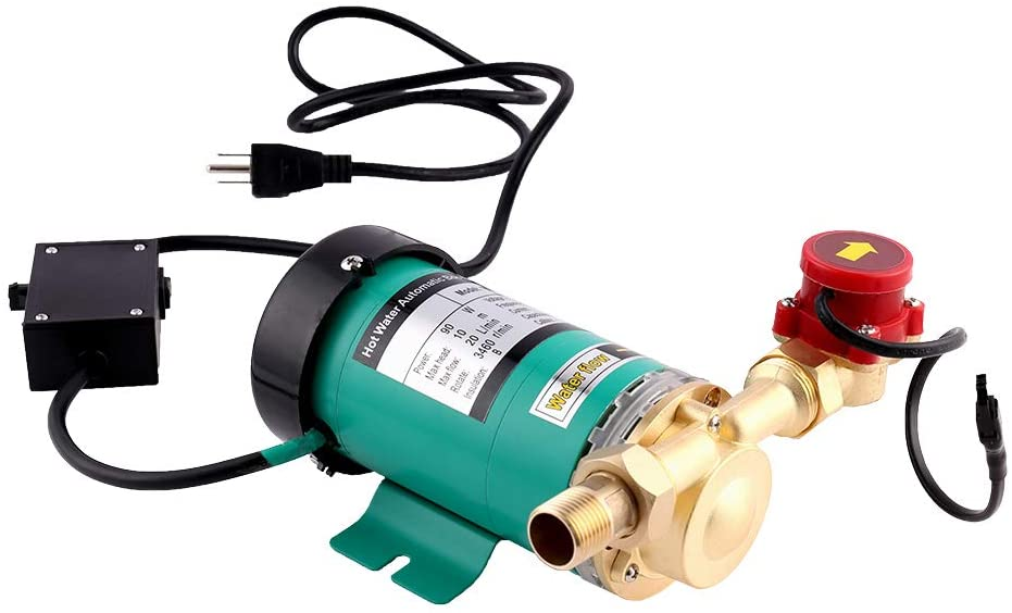 SHYLIYU Pressure Pumps 3/4 inch Outlet 90W Water Pressure Booster Pump Automatic Shower Booster Pump with Water Flow Switch for Home/Shower