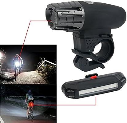 YaeTact USB recargable luz de la bicicleta conjunto super ...