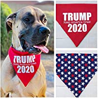 TRUMP 2020 Dog Bandana (reversible/over the collar) Keep America Great by Bones and Arrow