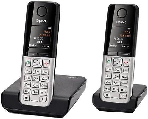 Gigaset C300 - Teléfonos fijo inalámbrico DECT/GAP (con manos libres y teléfono complementario), color negro [Importado de Francia]: Amazon.es: Electrónica